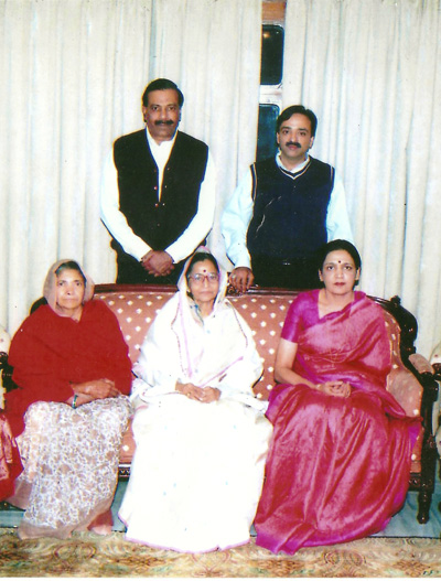 With the President of India, Pratibha Patil