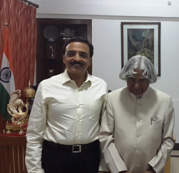 With the President of India APJ Abdul Kalam